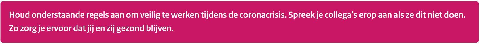 veilig werken bouw corona