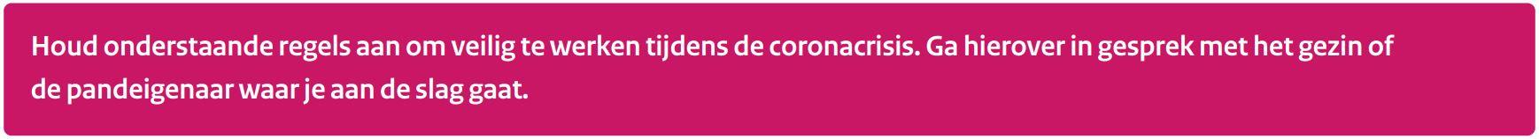 veilig werken bouw corona zzp