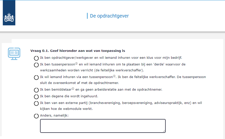 Webmodule ZZP, WAB